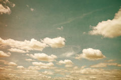 Grunge clouds vintage Royalty Free Stock Photography