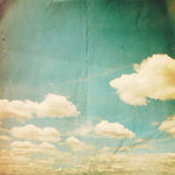 Grunge clouds vintage Stock Photo