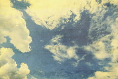 Grunge clouds vintage with texture Stock Photography