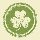 Grunge clover leaf stamp Royalty Free Stock Photography