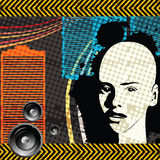 Grunge club. Brochure design for a grunge club Stock Image