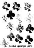 Grunge club cards set brush - cross Stock Image