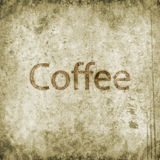 Grunge coffee background Royalty Free Stock Photography