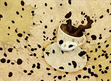 Grunge coffee background Royalty Free Stock Image