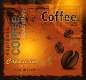 Grunge coffee background Stock Photography