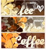 Grunge coffee backgrounds set Stock Photography