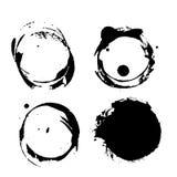 Grunge coffee splashes and blots Stock Image