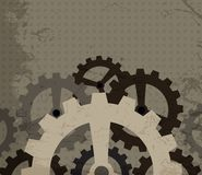 Grunge cogwheel background Royalty Free Stock Image