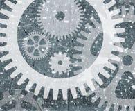 grunge cogwheel schematu Fotografia Stock