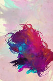 Grunge collage watercolor style background Royalty Free Stock Photography