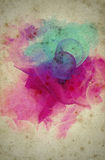 Grunge collage watercolor style background Stock Images