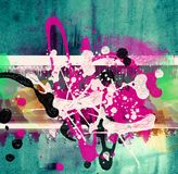 Grunge  collage, watercolor style Royalty Free Stock Images