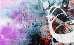 Grunge collage, watercolor style. Great background or texture for your projects Stock Photo