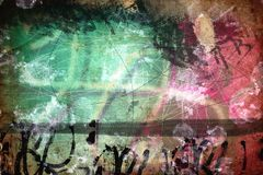 Grunge collage, watercolor style. Great background or texture for your projects Royalty Free Stock Photography