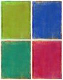 Grunge colorée réglée Photographie stock libre de droits