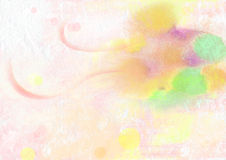 Grunge color crayon painting Stock Photography