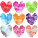 Grunge coloré de forme d'amour Photographie stock libre de droits
