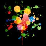 Grunge color paint Stock Photos