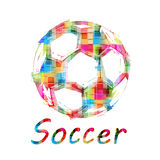 Grunge Color Soccer Ball Royalty Free Stock Photos