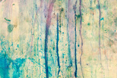 Grunge color on wall. Outdoor Royalty Free Stock Photography