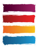 Grunge colored banners Royalty Free Stock Photo