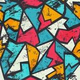 Grunge colored graffiti seamless pattern Stock Images