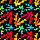 Grunge colored graffiti seamless pattern vector illustration Stock Photography