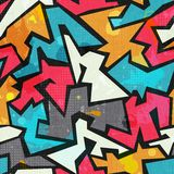 Grunge colored graffity seamless pattern Stock Photos