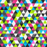 Grunge colored triangle seamless pattern stock illustration