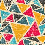Grunge colored triangle seamless pattern Royalty Free Stock Photo