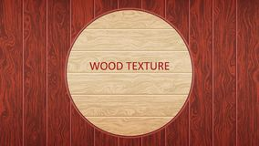 Brown wooden board. Woody oak texture. The form of parquet, laminate flooring, furniture. vector illustration