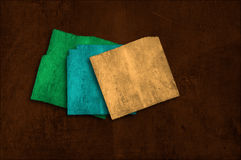 Grunge colorfu paper background on multiple planes Royalty Free Stock Photography