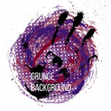 Grunge colorful backgound. Vector illustration. Stock Photo