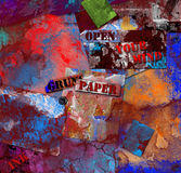 Grunge colorful background Stock Image