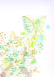 Grunge colorful  background with butterfly Royalty Free Stock Photo