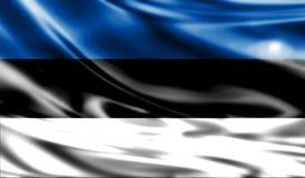 Grunge colorful background, flag of Estonia. Stock Photos
