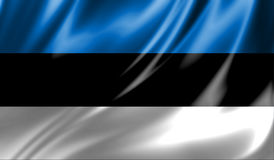 Grunge colorful background, flag of Estonia. Stock Images