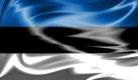 Grunge colorful background, flag of Estonia. Royalty Free Stock Photography