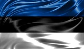Grunge colorful background, flag of Estonia. Royalty Free Stock Photo