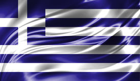 Grunge colorful background, flag of Greece. Royalty Free Stock Images