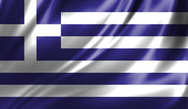 Grunge colorful background, flag of Greece. Royalty Free Stock Photography
