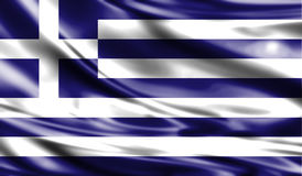 Grunge colorful background, flag of Greece. Royalty Free Stock Photos