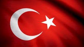 Grunge colorful background, flag of Turkey. Close-up, fluttering downwind. Flag of Turkey background.  stock images