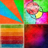 Grunge colorful backgrounds Royalty Free Stock Photos
