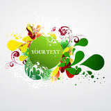 Grunge colorful banner. With decorative elements vector illustration
