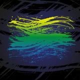 Grunge colorful brush stroke on black background Royalty Free Stock Image