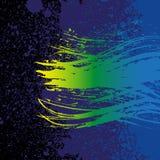 Grunge colorful brush stroke on black background Stock Photography