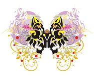 Grunge colorful butterfly splashes Stock Images