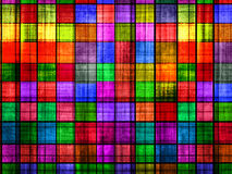 Grunge colorful chessboard Stock Images