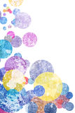 Grunge colorful circles Royalty Free Stock Photography
